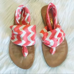 Shoes - Yoga Sling Sandal Women's Size 7 coral and white